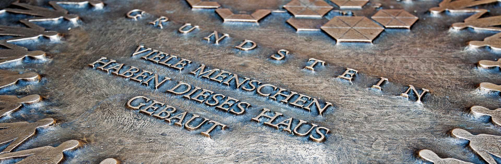 Grundstein der Nachsorgeklinik Tannheim