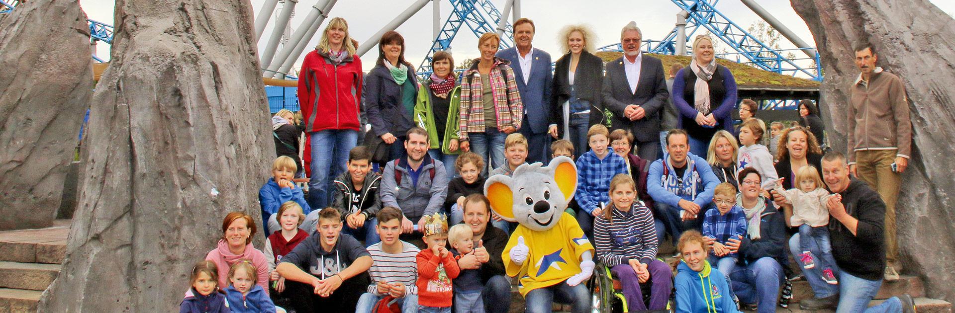 Europapark Besucher Gruppenfoto