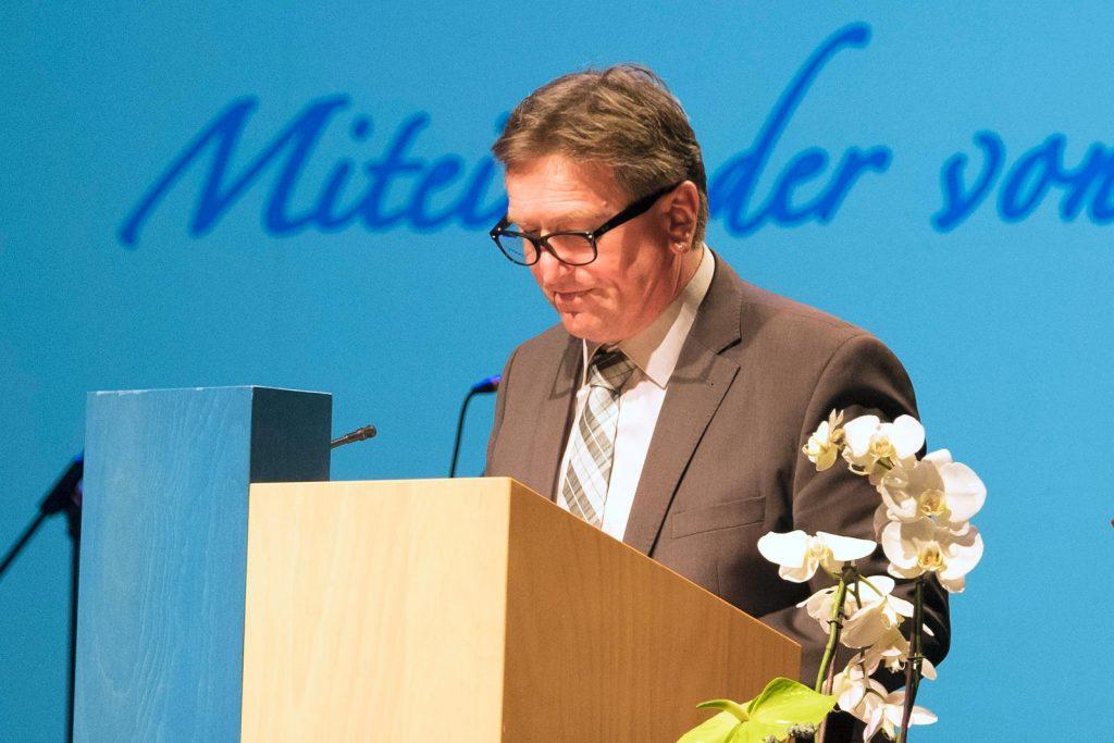 Grußworte von Manfred Lucha, Minister für Soziales und Integration.