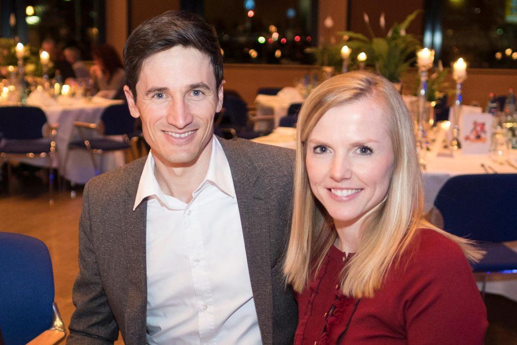 Ex-Skisprungstar Martin Schmitt mit Ehefrau Andrea.