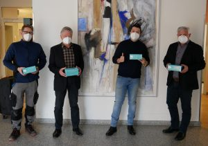 "Hr. Philippo Rasper, SiMa Cleantec GmbH, ""Mundschutzspende"""